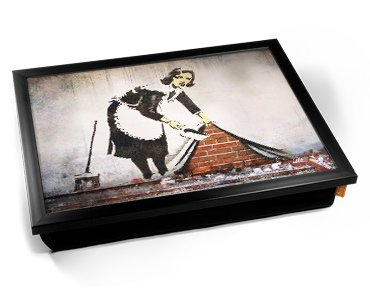 Banksy Street Maid Cushion Lap