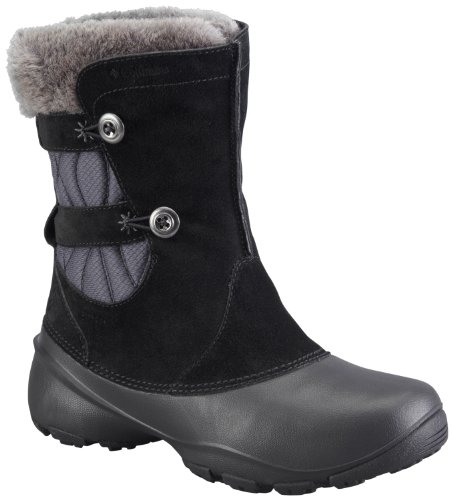 Columbia Women's Sierra Summette III Slip Winter Boot,Black/Grill,9 M US
