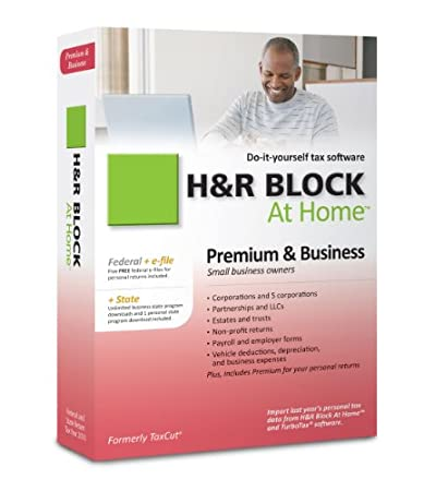 H&R Block At Home 2010 Premium & Business Federal + State + eFile [Old Version]