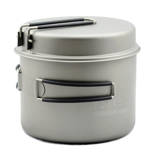 TOAKS Titanium 1600ml Pot with Pan (Titanium Pot Backpacking compare prices)