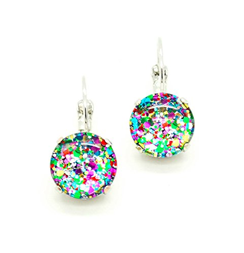 i-love-confetti-12mm-hand-painted-glass-cabochon-drop-leverback-earrings-pick-your-finish-karnas-des