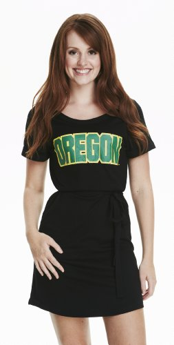 Ncaa Oregon Ducks Women'S Rolled Sleeve Dress, Black, Medium