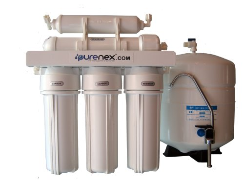 5 Stage Reverse Osmosis Water Filter System With Storage Tank Removes Fluoride