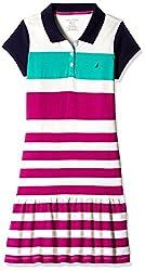 Nautica Kids Girls' Dress (34G02R650_Dark Pink_07)