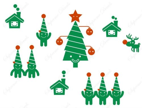 Christmas Decals- Christmas tree and funny kids