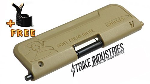 Strike Industries FDE Ultimate Enhanced Dust Cover 556 223 300 Don't Tread On Me - A-R with BBRINGTOOL
