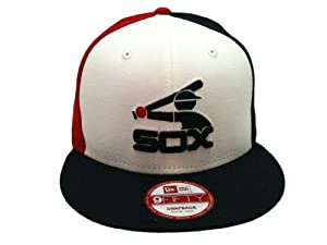 Chicago White Sox MLB Tri-Color Flat Bill Snapback Hat by New Era