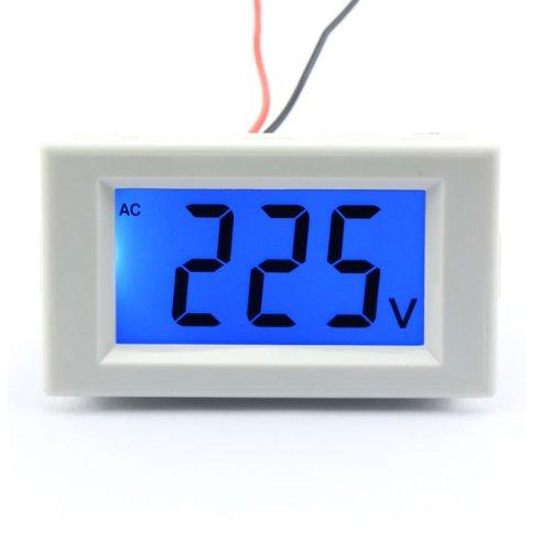 Drok Ac Voltmeter Gauge 80-500V 110V/220V/380V Voltage Monitor Lcd Display Volt Meter 2-Wire