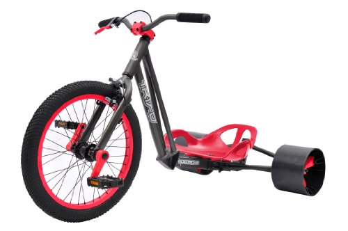 Bike Rassine Notorious Drift Trike, Gray Frame with Red Trim