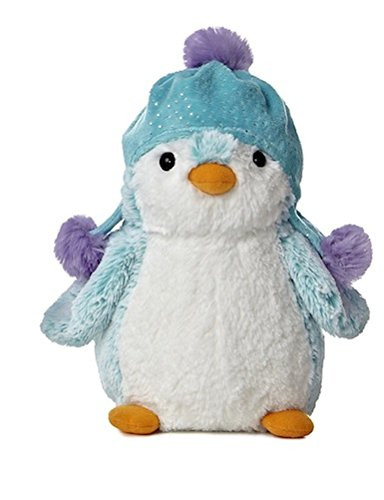 Aurora PomPom Penguin Brights Blue Hat Plush Stuffed Animal - 1