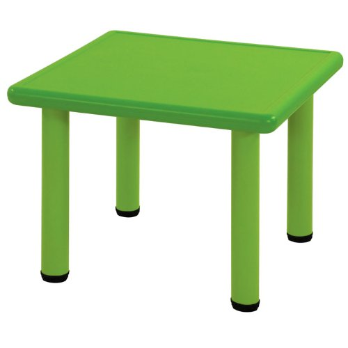 Ecr4Kids Square Plastic Kids Table Leg Height: 20, Color: Blue