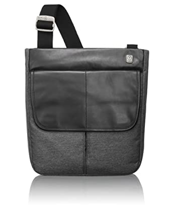 (大跌)Tumi 男士斜跨小型通勤包T-tech Forge Pueblo Top Zip FlapCharcoal $100.99