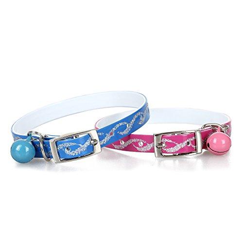 2X Katzenhalsband Katze Halsband mit Glöckchen für Katze