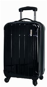 20 inch Hard Shell Cabin Trolley Case Shiny Black