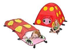 Melissa & Doug Girls Mollie Outdoor Bundle - Tent & Sleeping Bag