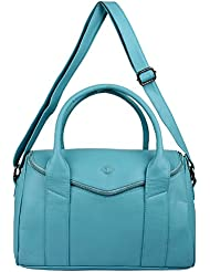 FINE ARCH Women Light Blue Hand Bag