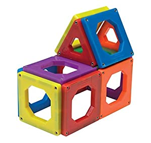 Discovery Kids Magnetic Tile Set 24 Piece Set - Multi Colored Pieces