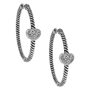 High Shine Sterling Silver 925 With Oxidized Finish And Genuine Sparkling Dia...