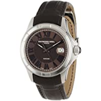 Raymond Weil 2970-STC-00718 Parsifal Automatic Steel Case and Leather Strap Men's Watch (Brown)
