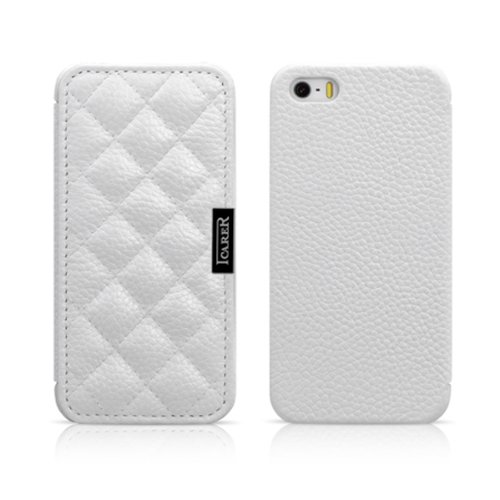 Moon Monkey Luxury Magnetic Flap Leather Skin Flip Case Cover Compatible With Apple Iphone 5 5S/ New Iphone (White)