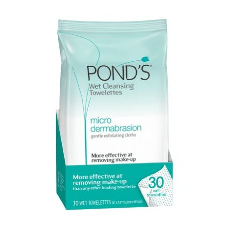 Ponds Clean Sweep, Micro Dermabrasion Wet Cleansing Towelettes, 30-count (pack Of 3)