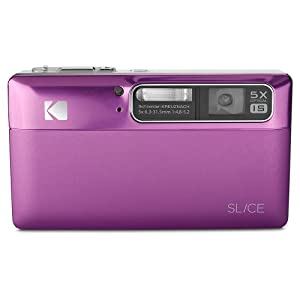 Kodak Slice 14MP Digital Camera with Schneider-Kreuznach Prism 5x Optical Image Stabilized Zoom and 3.5-Inch Touch-Screen LCD (Magenta)