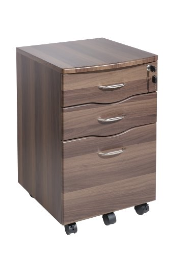 Dark Walnut Filing Cabinet Home Office Furniture - NEXT DAY DELIVERY