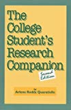 The College Student's Research Companion (1555703852) by Arlene Rodda Quaratiello