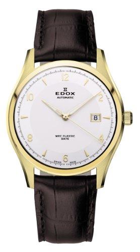 EDOX 80086 37J AID - Reloj de pulsera hombre, piel, color marrón