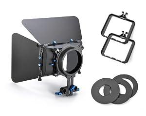 Koolertron-Compact Matte Box pare-soleil Pro professionnel Caméscope caméra Pour Rod 15mm Follow Focus Rig DV 4x4 filtre rotatif pour Canon 550D 500D 600D 1100D 60D 50D 40D 5D 5DII 5DIII Nikon D300 D5100 D3100 D3000 D5000 D90 D7