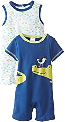 BabyGear Baby-Boys Newborn Alligator 2 Piece Romper Set