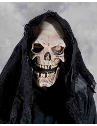 Scary-Masks Grim Reaper Mask Halloween Costume - Most Adults
