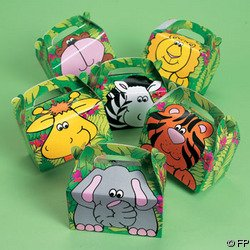 12 Zoo Animal Treat Boxes [Toy]