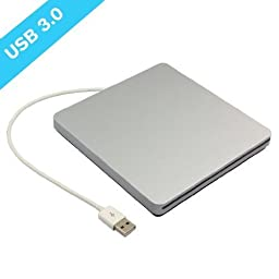 YAHEY® External DVD Drive USB 3.0 DVD CD VCD Drive Slot-in CD-RW DVD-RW CD-ROM DVD-ROM Super Drive Burner Player Writer for Apple Macbook Air Pro iMAC