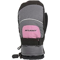 Seirus Moto Mitten - Kids\' Charcoal/Pink, L