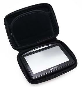 Trendline24 Hardcase Tasche für TOMTOM Go/TOMTOM One - inkl.samtweichem Zubehörtransportbeutel