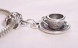 Pugs & Pandoras Alphabet Letter F Initial Pink Enamel Cube Bead Gift for European Charm Bracelet PP21049