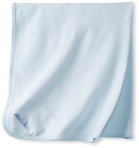 Little Me Baby-Boys Newborn Thank Heavens Tag Along Blanket, Light Blue, One Size