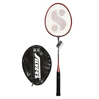 Silver's SB-119 Badminton Racquet in 1/2 Cover, Senior G3 (Red/Black)