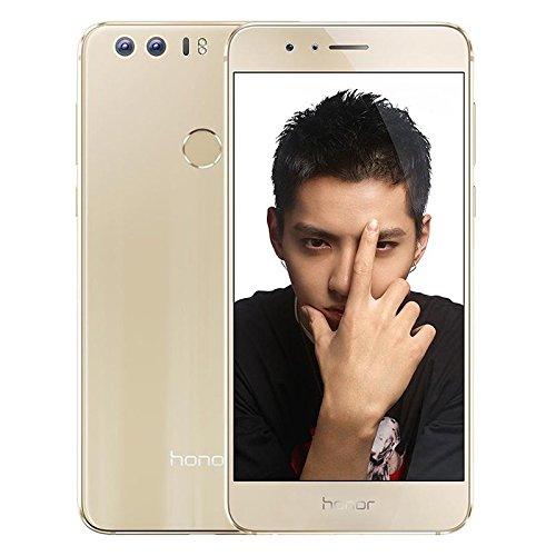 ロック解除のAndroid6.0 Huawei Honor 8 FRD-AL00 イエローページ4ギガバイトのRAM+32ギガバイトROM4G LTEデュアルSIMフルアクティブEMUI4.1オクタコア2.3GHzの5.2インチQHDデュアルカメラスマートフォンなし-ゴールド