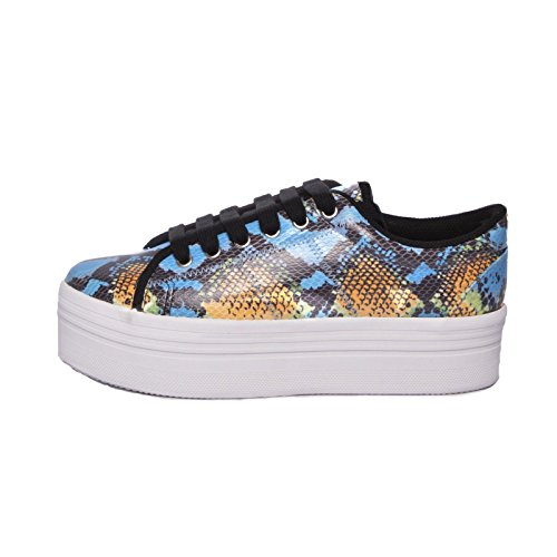 JEFFREY CAMPBELL EPLAY Sneaker ZOMG Blu-Giallo (39)
