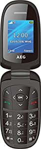 AEG M1500 1.8-Inch Clamshell UK SIM-Free Mobile Phone - Black