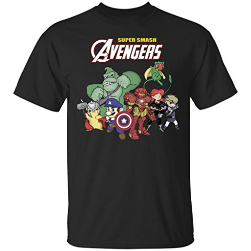 Pokemon Avenger Super Smash-Ironman Avengers T-Shirt-Unisex (Iron Man Glow Arc Reactor)