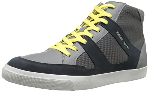 B00QQQCGRM Armani Jeans Men's High-Top Fashion Sneaker