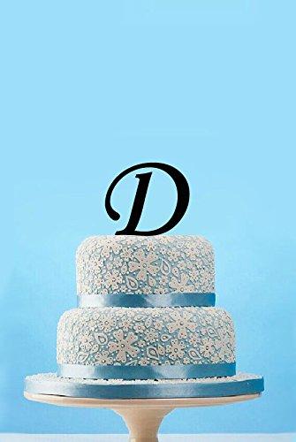 Black Monogram Cake Toppers