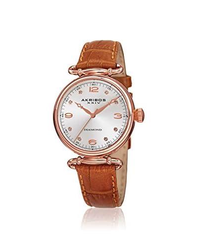 Akribos XXIV Women's AK878BR Velvet Brown Leather Watch