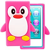 Tsmine for iPod Touch 2nd/3rd Gen Case Cover - Cute 3D Penguin Cartoon Soft Silicone Case Back Cover Protective Skin for Apple iPod Touch 2nd/3rd Gen, Hot Pink