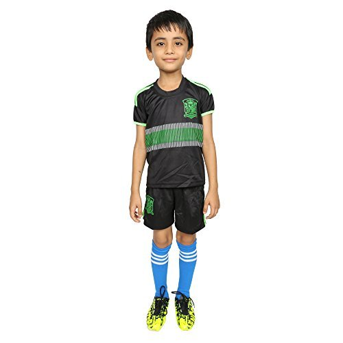FWC 2015 David Villa Spain Away Soccer Jersey & Short Size Kids to Adults Size 30 / 6 - 8 Years