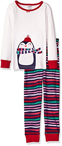 Gymboree Big Girls' Holiday 2-Piece Tight-Fit Pajamas