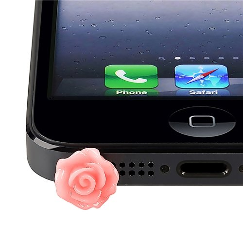 Eforcity® Universal Headset Dust Cap Compatible With Htc One M7, Pink Rose